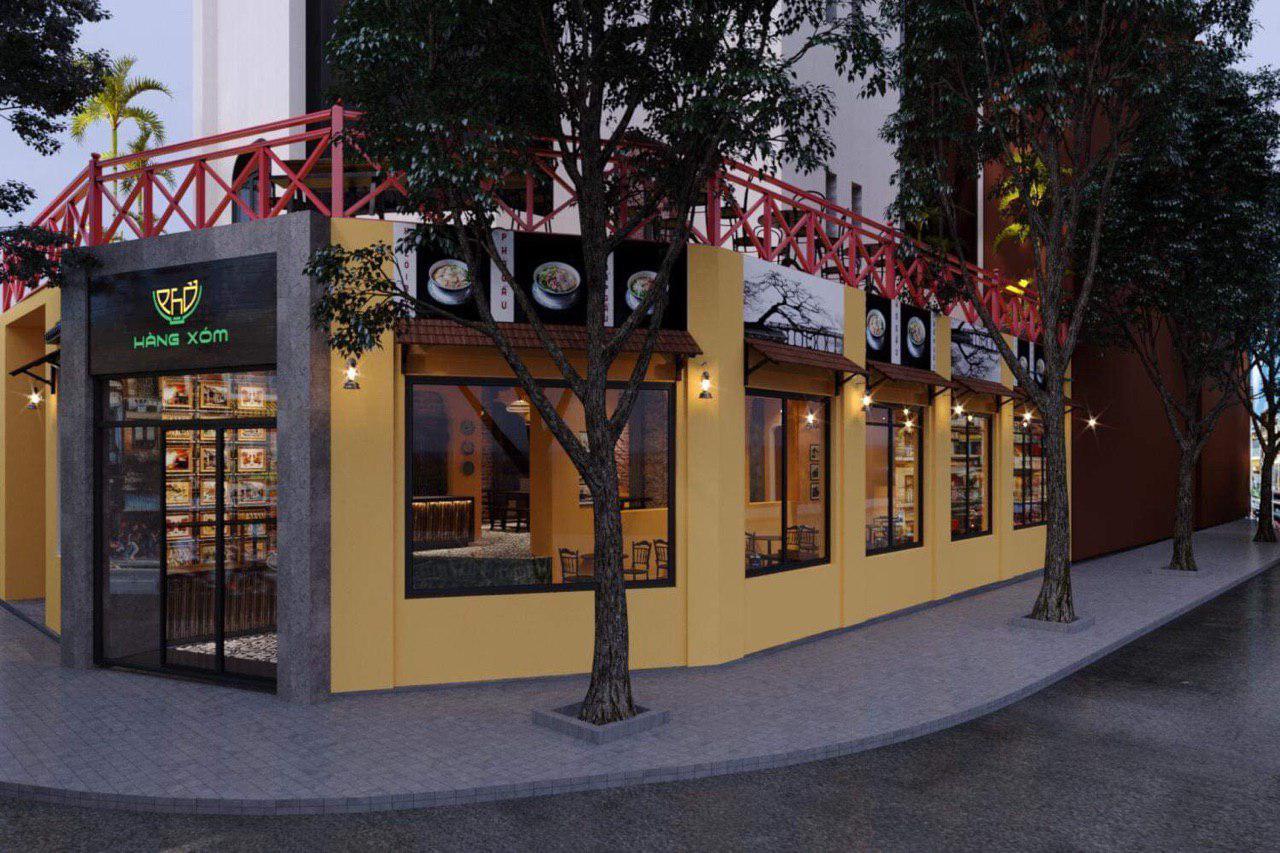Không gian quán cà phê Hàng Xóm Coffee