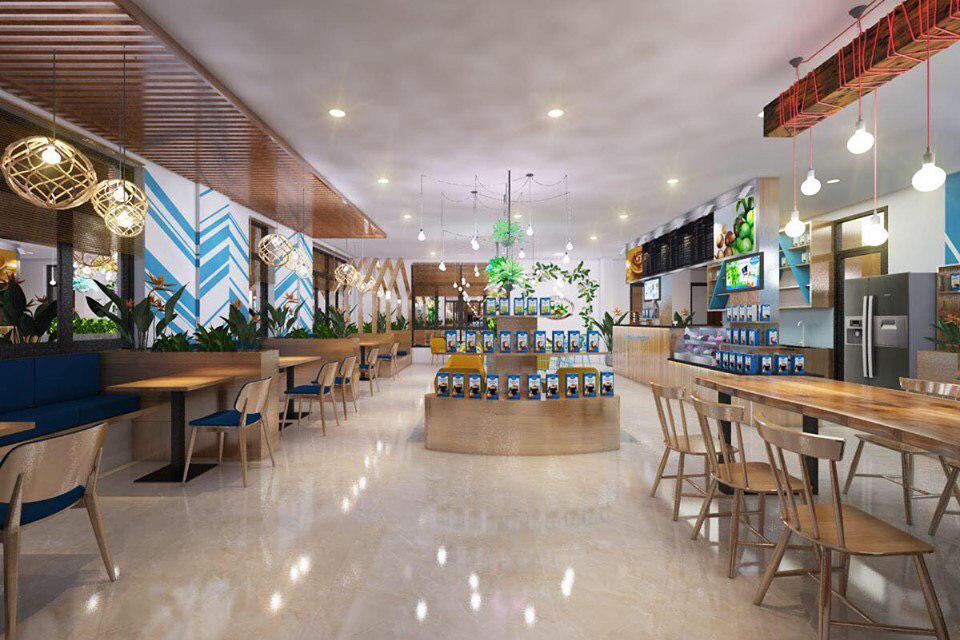 Hình ảnh không gian quán cà phê Maccaca