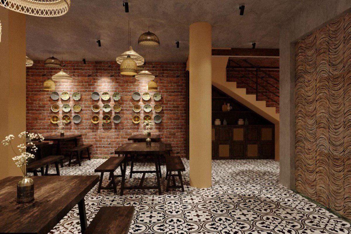 VNBS thiết kế menu cho Hàng xóm coffee với trên 30 món gồm cà phê – sinh tố - trái cây tươi mang phong cách riêng của quán.